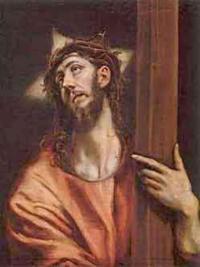 Cristo sosteniendo la cruz