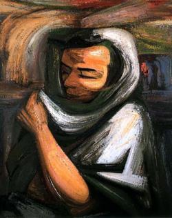 David Alfaro Siqueiros - Mujer con rebozo